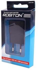 Фото 1/2 USB1000, Блок питания с USB разъёмом черный, 5В,1А,5Вт (адаптер)