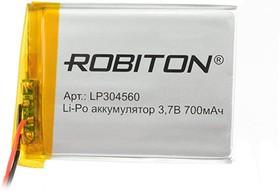 Фото 1/2 LP304560, Аккумулятор литий-полимерный (Li-Pol) 700мАч 3.7В, с защитой