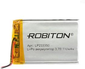 Фото 1/2 LP233350, Аккумулятор литий-полимерный (Li-Pol) 310мАч 3.7В, с защитой