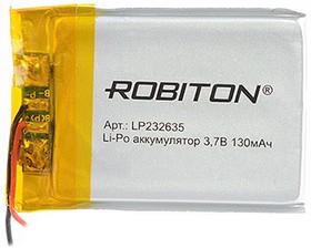 Фото 1/2 LP232635, Аккумулятор литий-полимерный (Li-Pol) 130мАч 3.7В, с защитой