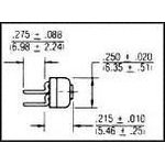 Фото 4/4 3329P-1-103LF, Res Cermet Trimmer 10K Ohm 10% 0.5W(1/2W) 1(Elec)/1(Mech)Turn (6.35 X 5.82mm) Pin Thru-Hole Tube