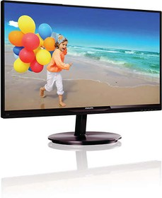 224E5QSB (00/01), Монитор LCD 21,5'' [16:9] 1920х1080 IPS, nonGLARE, 250cd/m2, H178°/V178°, 20М:1, 8ms, VGA, DVI, 2Y,