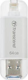 TS64GJDG300S, Флеш-накопитель 64GB JETFLASH 300 Go (silver)