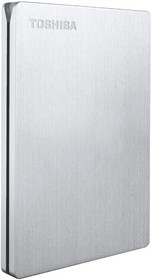 "HDTD205ES3DA, Внешний жесткий диск TOSHIBA HDTD205ES3DA CANVIO SLIM II 500ГБ 2.5"" USB 3.0 Silver"