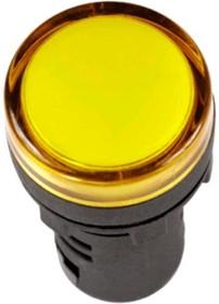 SQ0702-0052, Лампа AD-16DS(LED)матрица d16мм желтый 12В AC/DC