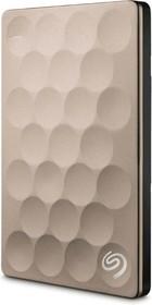 """STEH1000201, Внешний жесткий диск Seagate STEH1000201 1000ГБ Backup Plus Ultra Slim 2.5"""" 5400RPM 8MB USB 3.0 Gold"""