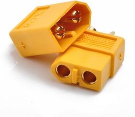 Фото 1/2 XT60 M+F, Разъем питания 2 pin (комплект)