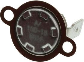 T23A100ASR2-15, Переключатель термостата, низкопрофильный, серия T23, 100°C, нормально-замкнутый, монтаж на фланец