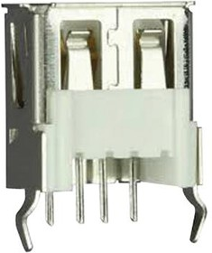 690-004-660-013, Разъем USB-A 3.0 на плату вертикальный