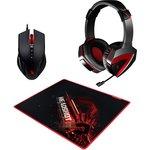 Наушники с микрофоном A4 Bloody G500+V5+B-072 черный/красный ...