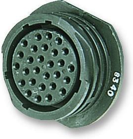 206433-3, Круглый кожух, Серия CPC 2, Настенное Гнездо, Multimate Socket Contacts