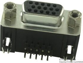 HDEX15SNT, Разъем D Sub, высокоплотный, угловой, High Density, Гнездо, Серия Special D, 15 контакт(-ов), DE