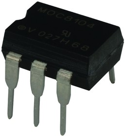 Фото 1/2 MOC8104, Optocoupler DC-IN 1-CH Transistor DC-OUT 6-Pin PDIP