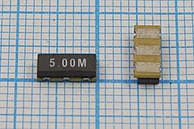 Керамические резонаторы 5МГц, SMD 7.4x3.4мм с тремя контактами, 5000 \C07434C3\\4000\ \ZTTCC5,00MG\