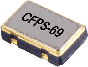 LFSPXO009586, Кварцевый генератор, кристалл, 14.7456МГц, 50млн-1, SMD, 5мм x 3.2мм, 3.3В, CFPS-69 серия