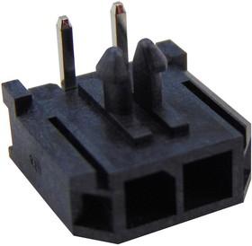 2261(5561)RA-02, Разъем типа провод-плата, угловой, 3 мм, 2 контакт(-ов), Штыревой Разъем, Серия 2261(5561)