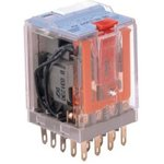 C4-A40/024VDC, C4-A40 4PDT Non-Latching Relay Plug In, 24V dc Coil, 6A