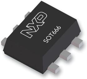 PEMH4,115, Биполярный цифровой/смещение транзистор, BRT, Двойной NPN, 50 В, 100 мА, 10 кОм
