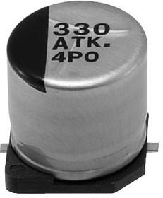 Фото 1/2 EEETKE681UAQ, SMD электролитический конденсатор, Radial Can - SMD, 680 мкФ, 25 В, 0.12 Ом, Серия TK