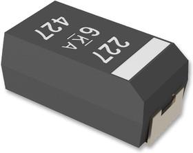 Фото 1/2 T598B225M050ATE200, Танталовый полимерный конденсатор, 2.2 мкФ, 50 В, T598 KO-CAP® Series, ± 20%, B, 0.2 Ом