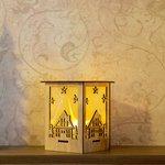 """Фото 3/5 504-023, Деревянная фигурка с подсветкой """"Волшебный фонарик"""" 13,8*11*11 см"""