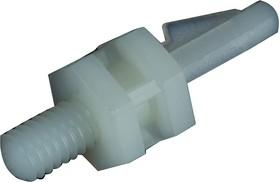 TRMSCBS-4-01, Стойка на печатную плату, поддержка с защелкой и штырем, нейлон 6.6, 6.4мм x 7.8мм