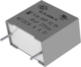 R46KN322040H1M, Конденсатор Безопасности, 0.22 мкФ, X2, R46 125°C, 275 В, Metallized PP