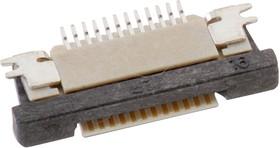68712214022, FFC / FPC разъем, ZIF, горизонтальный, 0.5 мм, 22 контакт(-ов), Гнездо, Поверхностный Монтаж, Верх