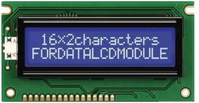 FC1602E04-NSWBBW-91*E, Буквенно-цифровой ЖКД, 16 x 2, Белый на Черном, 3В, Английский, Японский, Передающий