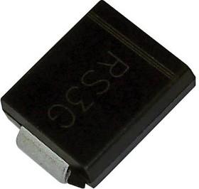 SS310+, Выпрямитель Шоттки, 100 В, 3 А, Одиночный, SMC, 2 вывод(-ов), 850 мВ