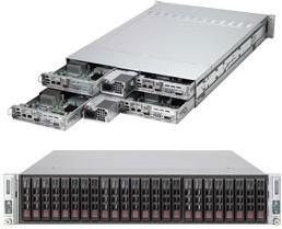 "Платформа SuperMicro Twin SYS-2027TR-D70RF+ 2.5"" LSI2008 1G 2P 2x1280W 2 Nodes"