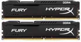 Модуль памяти KINGSTON HyperX FURY Black HX426C15FBK2/8 DDR4 - 2x 4Гб 2666, DIMM, Ret