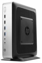 Тонкий клиент HP t730, AMD RX-427BB, DDR3L 4Гб, 16Гб, AMD Radeon HD 9000, без ODD, HP ThinPro, черный и серебристый [p3s24aa]