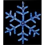 LI112227B, 90CM TWINKLING BLUE LED SNOWFLAKE