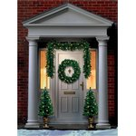 PEL00594, CHRISTMAS PRE LIT DOOR SET