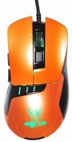 Мышь OKLICK 865G оптическая проводная USB, черный и оранжевый [gm-26 orange]
