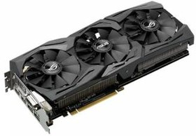Видеокарта ASUS GeForce GTX 1070, STRIX-GTX1070-8G-GAMING, 8Гб, GDDR5, OC, Ret