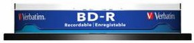 Оптический диск BD-R VERBATIM 25Гб 6x, 10шт., 43742, cake box