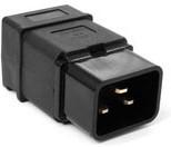 Вилка Lanmaster IEC 60320 C20 16A 250V разборная черная [lan-iec-320-c20]