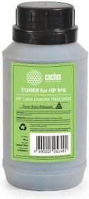 Тонер CACTUS CS-THP6BK-95, для HP CLJ 1600/2600, черный, 95грамм, флакон