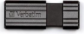 Флешка USB VERBATIM PinStripe 16Гб, USB2.0, черный [49063]