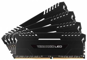 Модуль памяти CORSAIR Vengeance LED CMU64GX4M4A2666C16 DDR4 - 4x 16Гб 2666, DIMM, Ret