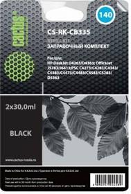 Заправочный комплект CACTUS CS-RK-CB335, для HP, 30мл, черный