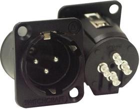 E3MSCB, 3 Pin XLR Connector Male Panel Silver Pins