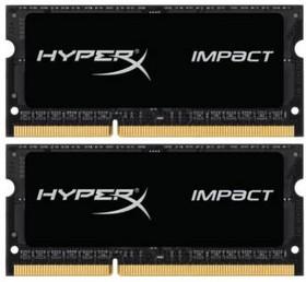 Модуль памяти KINGSTON HyperX Impact HX321LS11IB2K2/16 DDR3L - 2x 8Гб 2133, SO-DIMM, Ret