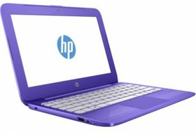"Ноутбук HP Stream 11-y001ur, 11.6"", Intel Celeron N3050, 1.6ГГц, 2Гб, 32Гб SSD, Intel HD Graphics , Windows 10, фиолетовый [y5v32ea]"