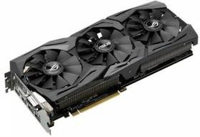 Видеокарта ASUS GeForce GTX 1080, STRIX-GTX1080-A8G-GAMING, 8Гб, GDDR5X, OC, Ret