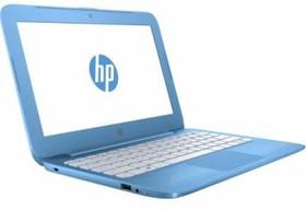 """Ноутбук HP Stream 11-y000ur, 11.6"""", Intel Celeron N3050, 1.6ГГц, 2Гб, 32Гб SSD, Intel HD Graphics , Windows 10, голубой [y3u90ea]"""