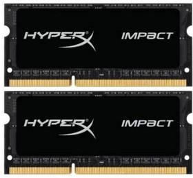 Модуль памяти KINGSTON HyperX Impact HX318LS11IBK2/16 DDR3L - 2x 8Гб 1866, SO-DIMM, Ret