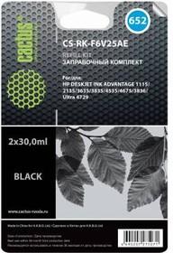 Заправочный комплект CACTUS CS-RK-F6V25AE, для HP, 60мл, черный